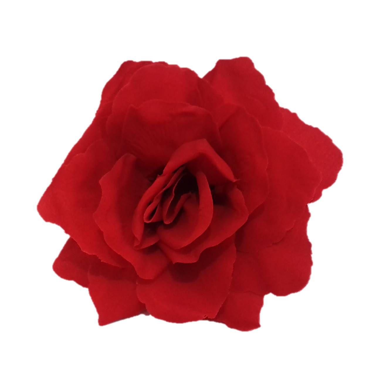 FLOR FLAMENCA tecido 13cm vermelha flamenco