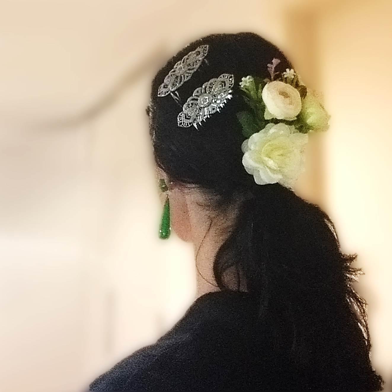 FLOR presilha branca flamenco