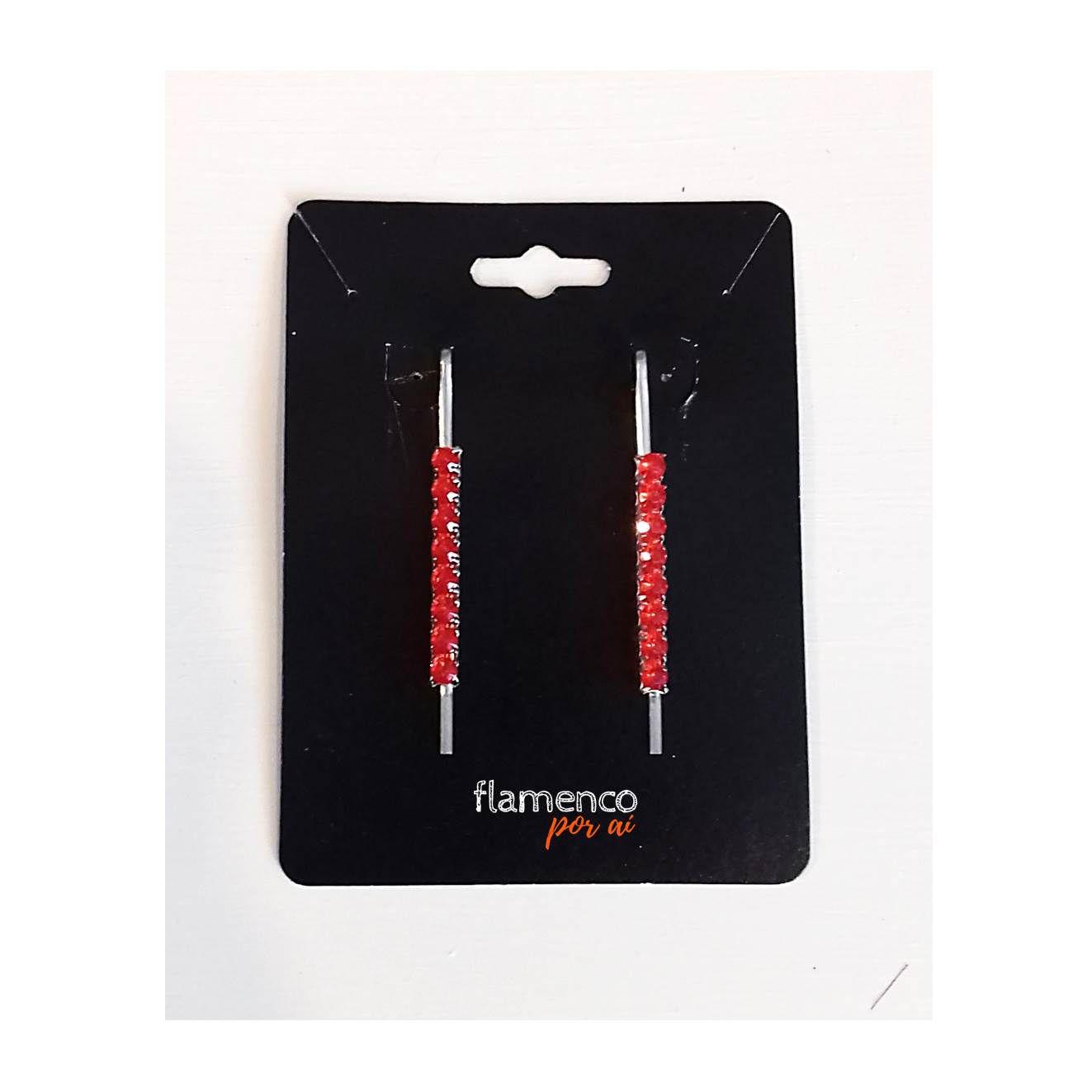 GRAMPOS strass colorido cabelo flamenco par