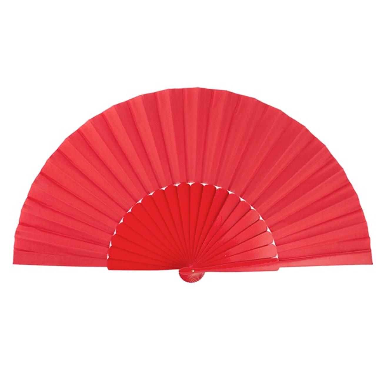 LEQUE grande 30cm pericón flamenco vermelho