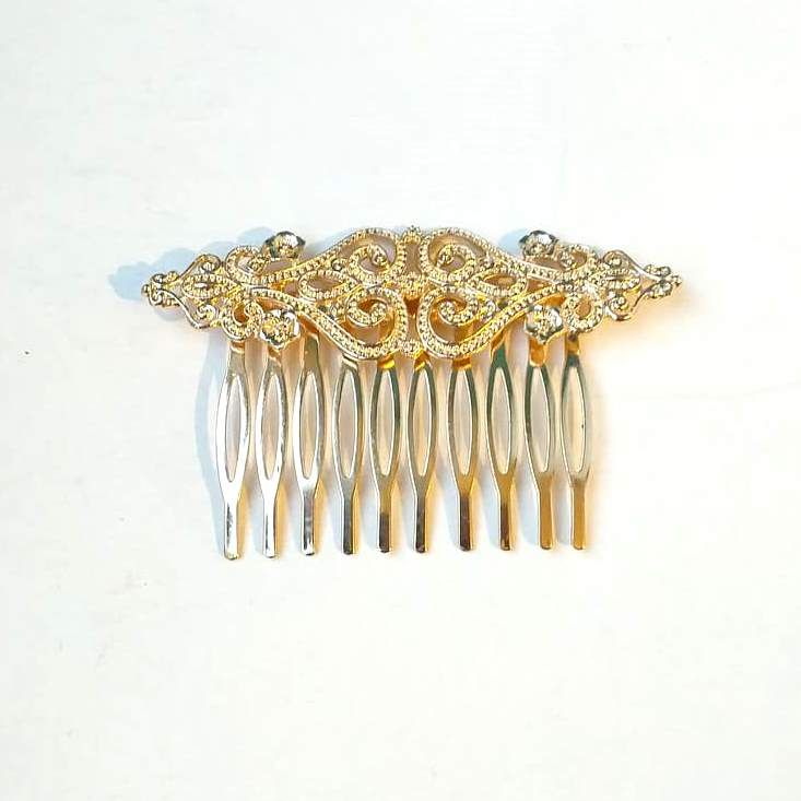 PEINECILLO metal flamenco vintage dourado  8cmx5cm