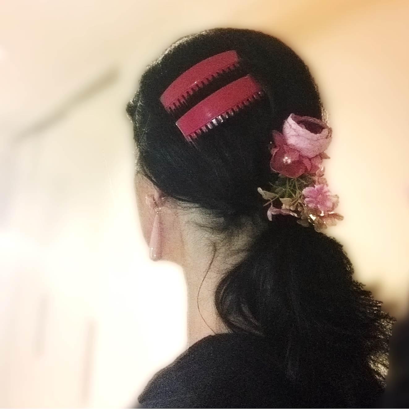 PEINECILLOS flamenco plástico (par)