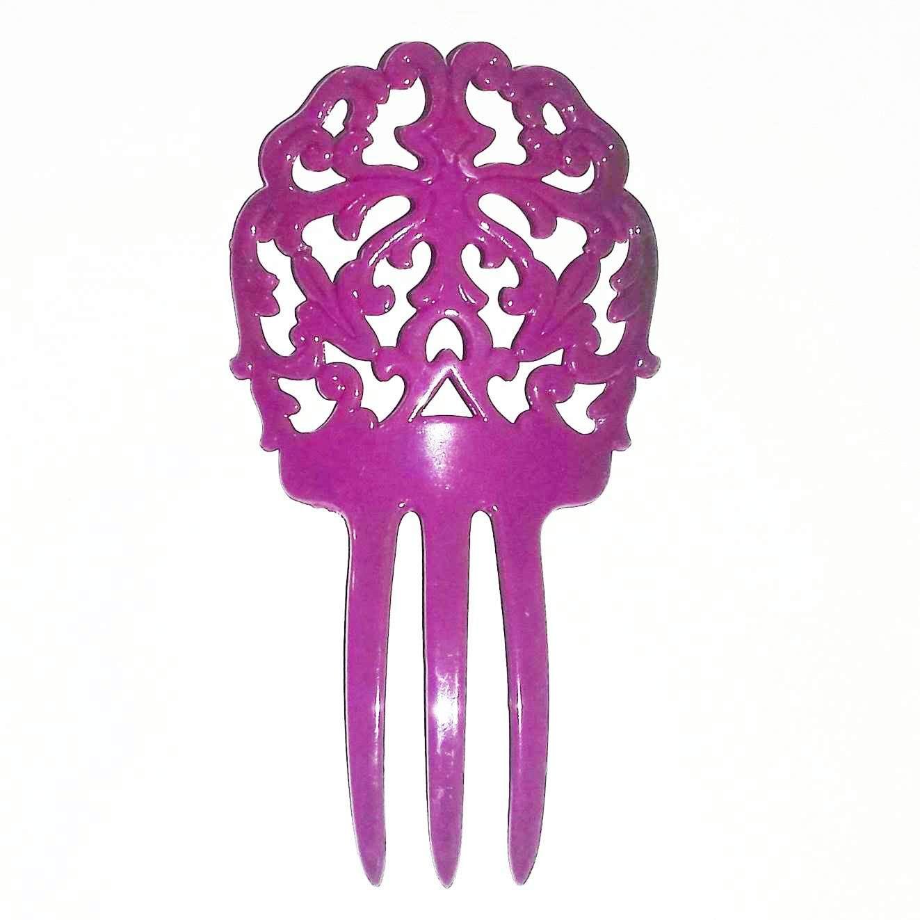PEINETA flamenco plástico 14x8cm várias cores