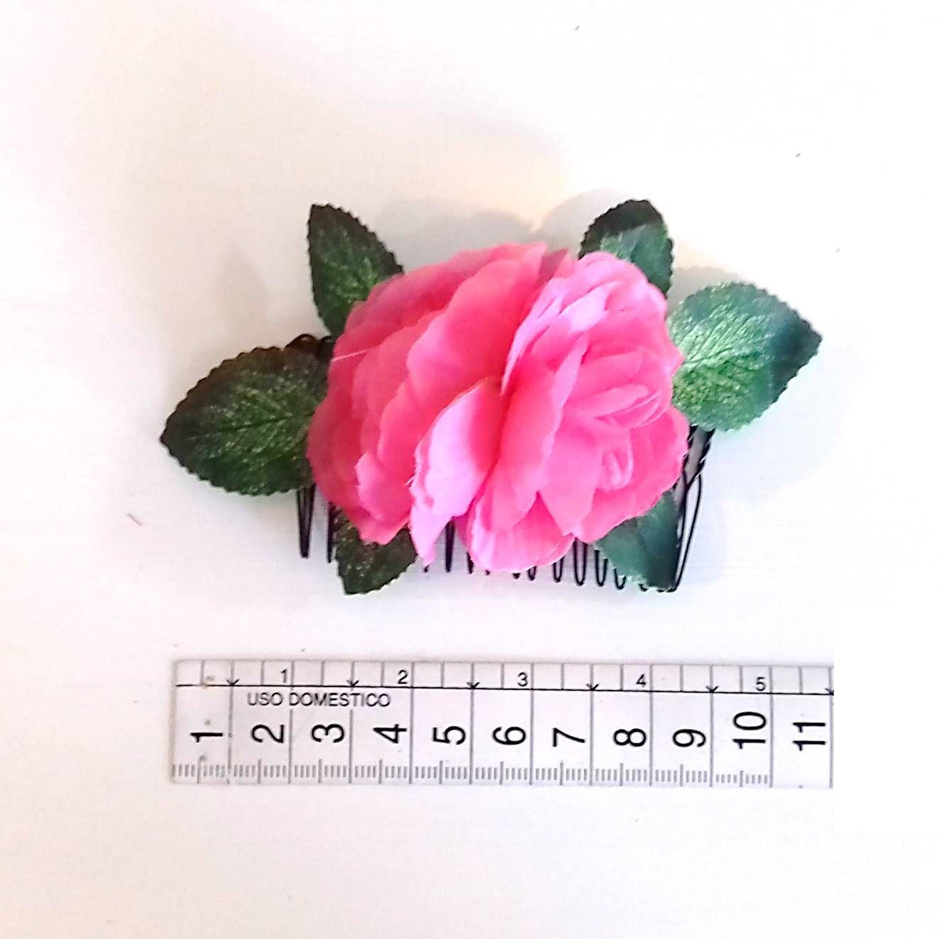 PENTE flamenco pequeno com flores pink