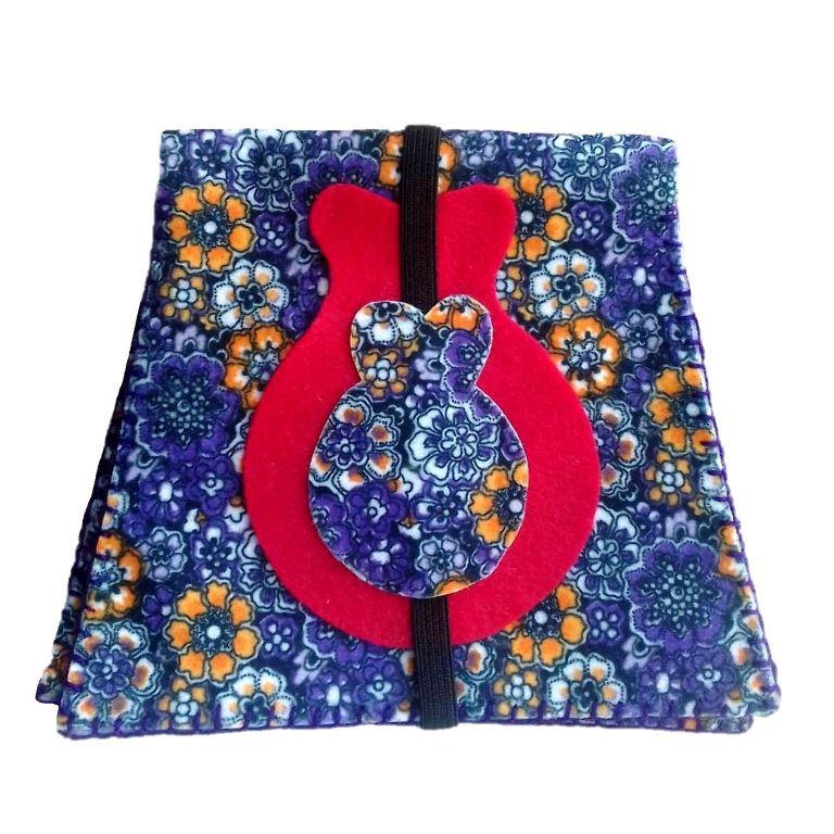 PORTA-CASTANHOLAS flamenco feltro com elástico várias cores