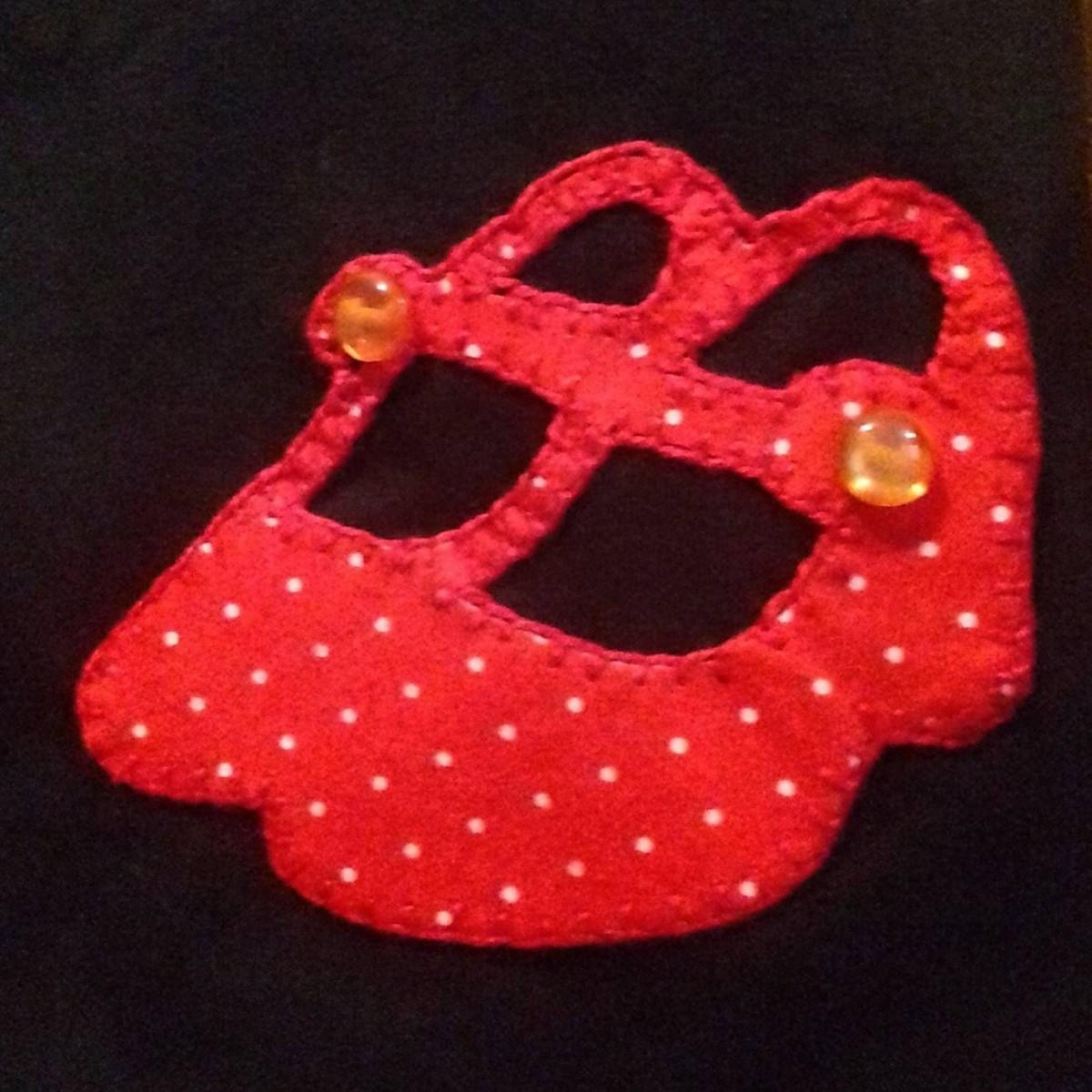 REGATA flamenco sapatos patch lunares