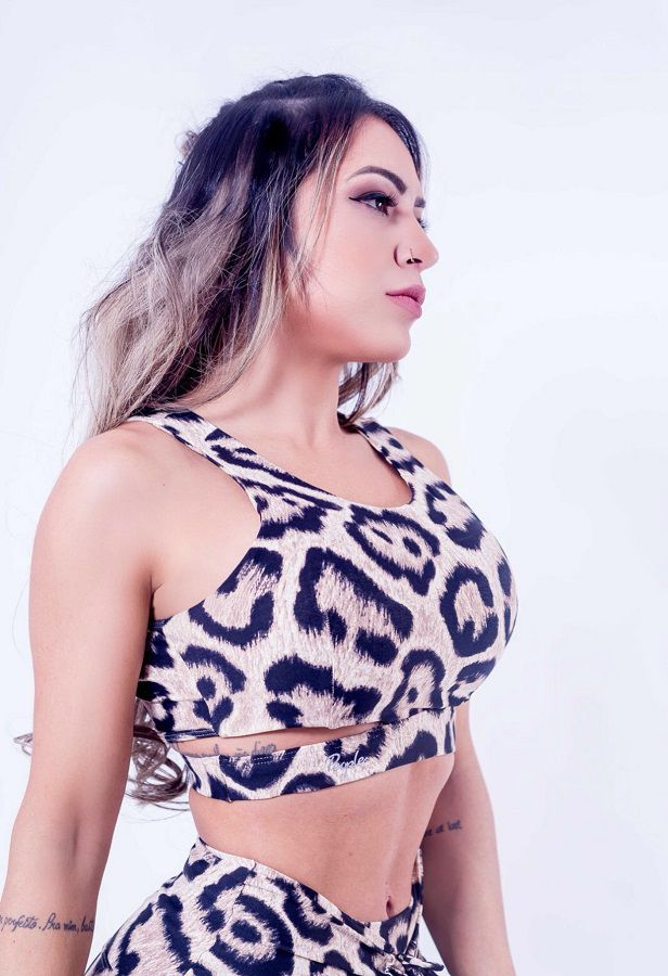 CROPPED ANIMAL PRINT JAGUAR