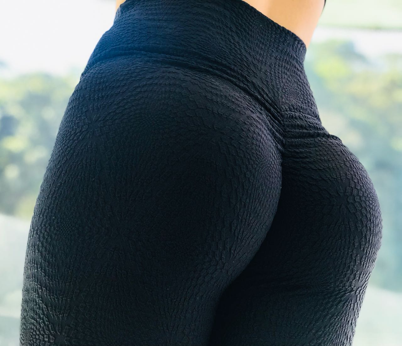 LEGGING BLACK DETAIL BUMBUM FRANZIR