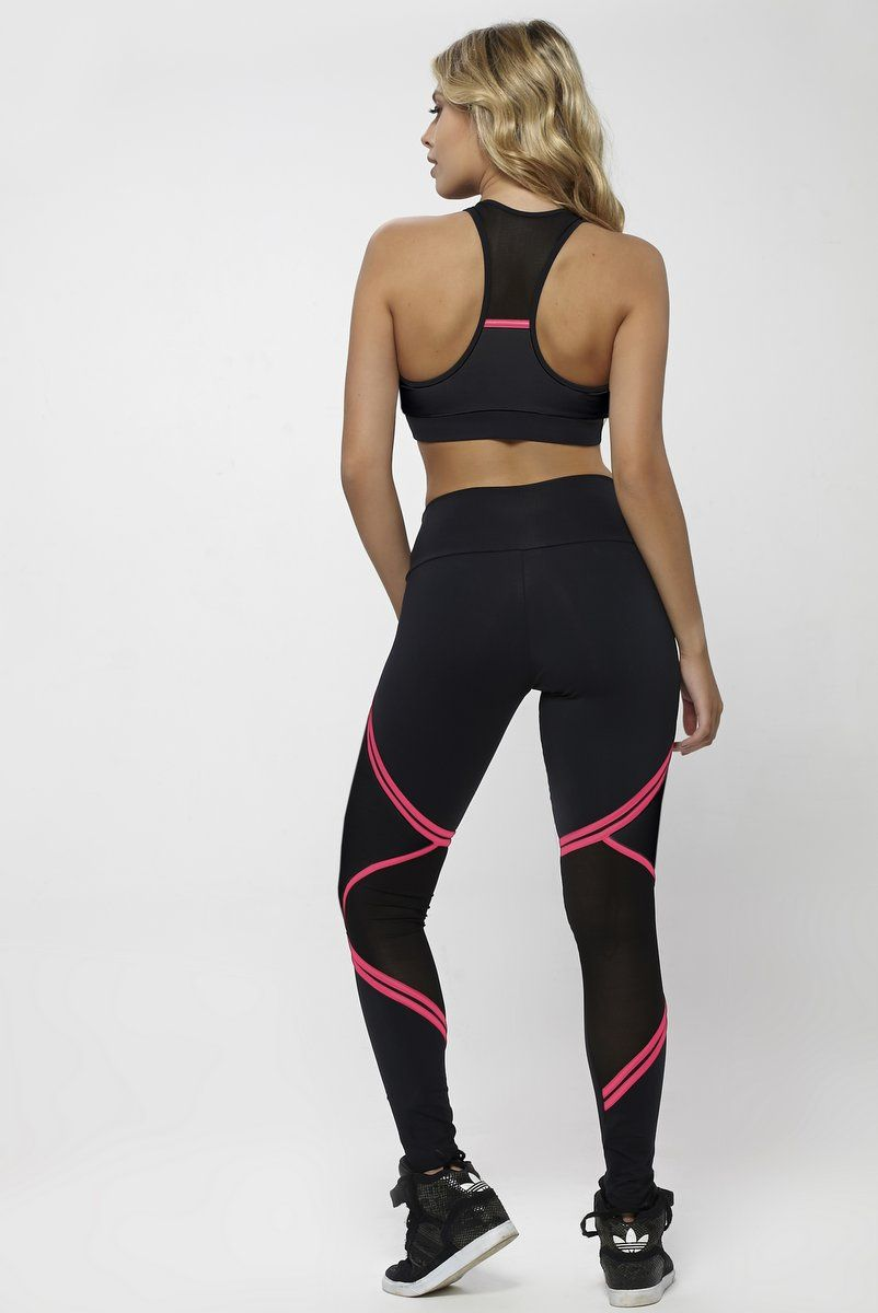 LEGGING OXYFIT WILL PRETA ROSA BARBIE