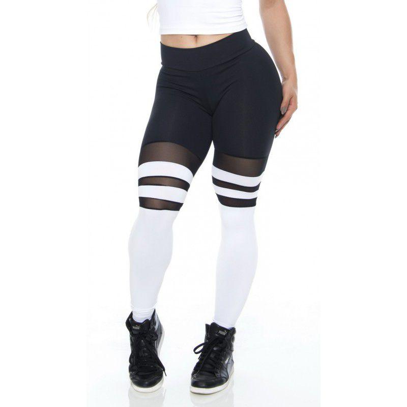 LEGGING SOCKS BLACK AND WHITE