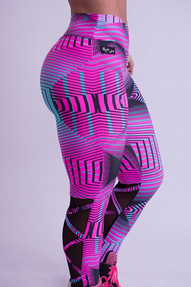 LEGGING STRAPPY ABSTRAT PINK BY ERIKA