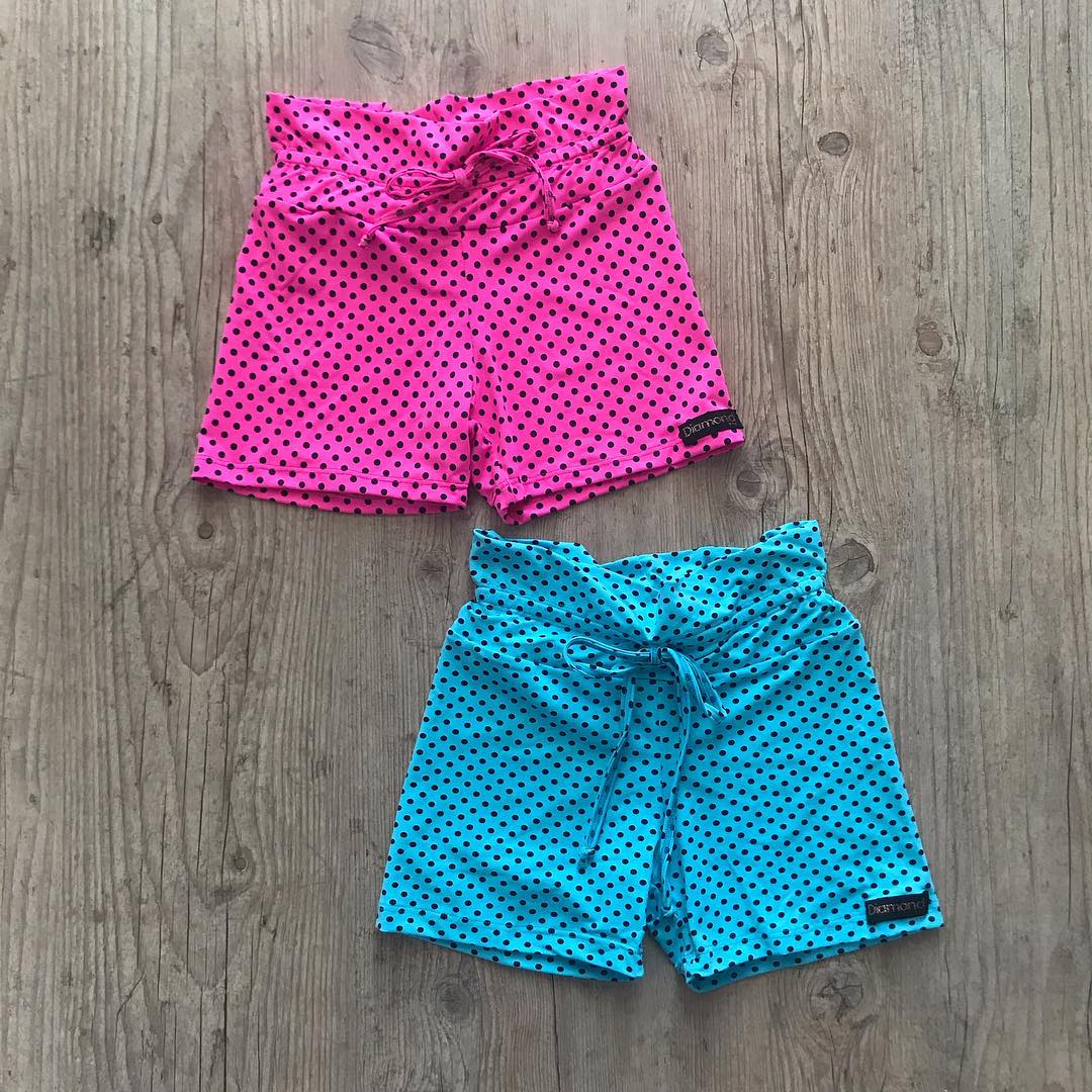SHORTS BOLINHAS DE DIAMANTE