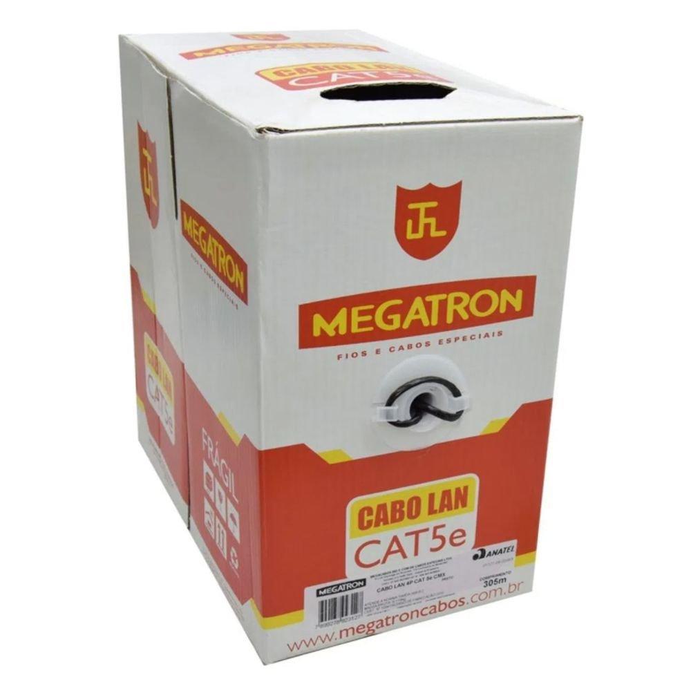 CABO UTP CAT 5 E PRETO (305M)