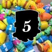 Monte Seu Kit De 5 Shopkins Avulsos Raros Da Seção 1