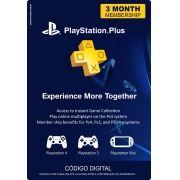 Cartão assinatura PSN Plus 3 Meses - Pronta Entrega