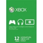 Cartão Da Live 12 Meses - Xbox 360 E One - Pronta Entrega
