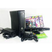Console Xbox 360 Slim 4gb 110V + Kinect com 3 jogos Original Usado