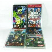 Lote de 4 jogos de PSP Ben 10 GTA Ratchet PES Original Usado