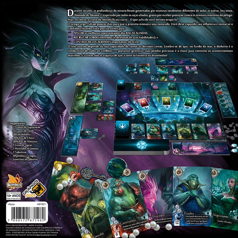 Abyss Jogo de Tabuleiro Galapagos ABY001  - Place Games