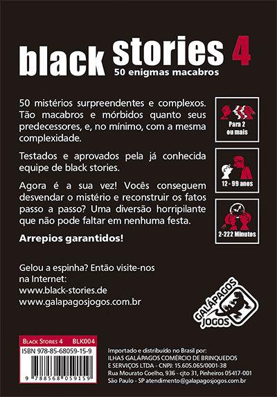 Black Stories 4 Jogo de Cartas Galapagos BLK004  - Place Games