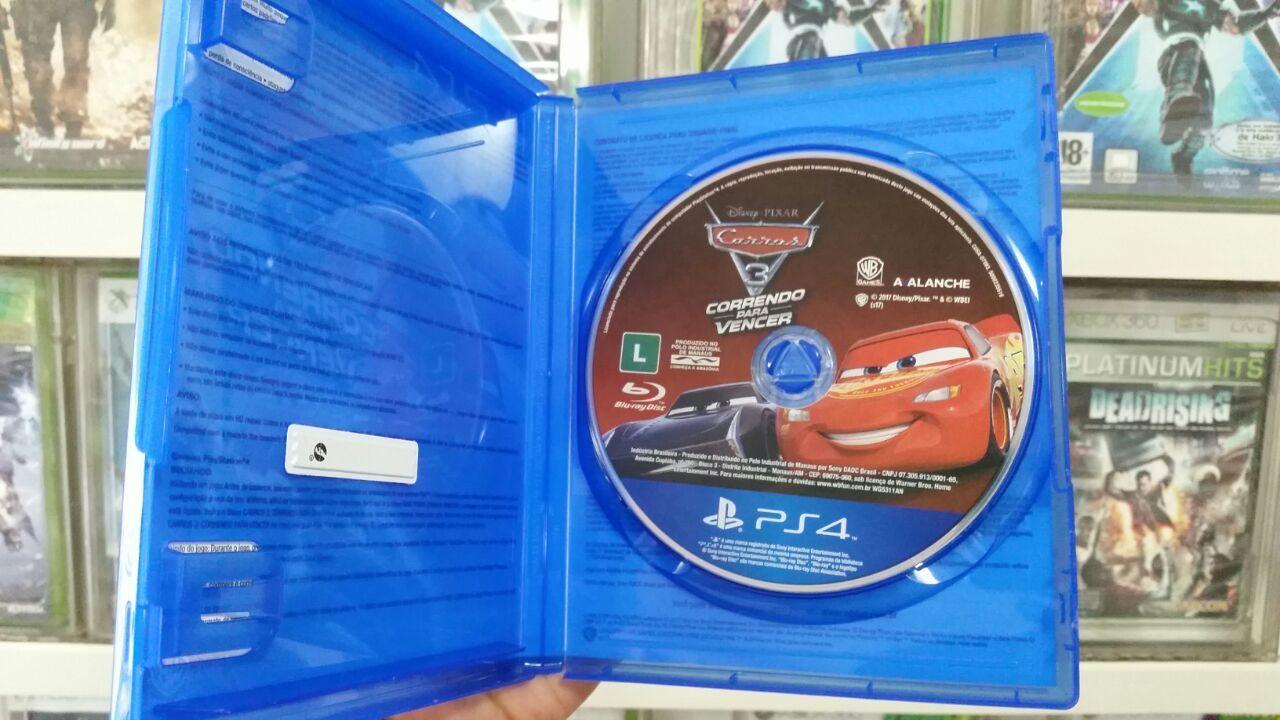 Carros 3 Correndo para Vencer Playstation 4 Original Usado  - Place Games