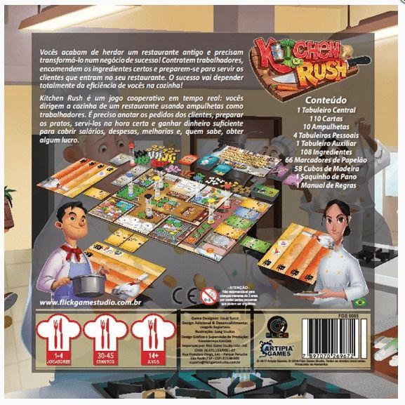 Kitchen Rush Jogo de Tabuleiro Flick Games FGS0005  - Place Games