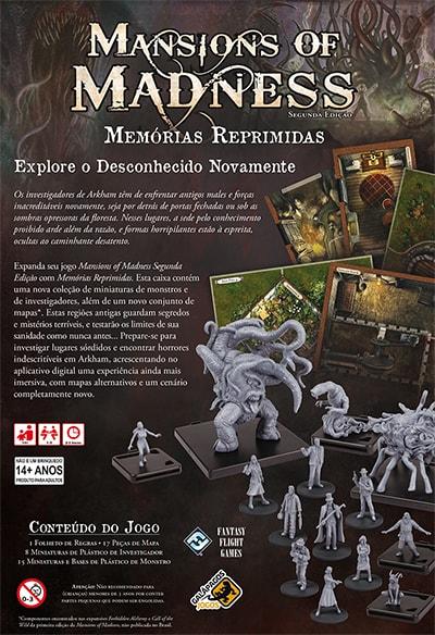 Mansions of Madness Memórias Reprimidas Expansão Galapagos MOM002  - Place Games