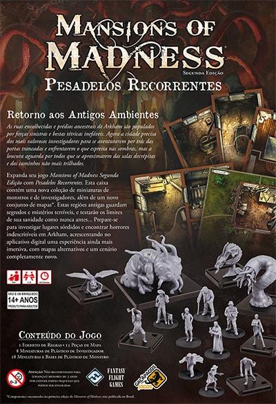 Mansions of Madness Pesadelos Recorrentes Expansão Galapagos MOM002  - Place Games