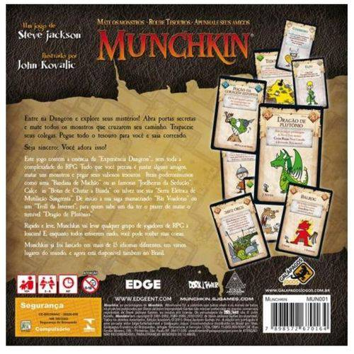 Munchkin Jogo de Cartas Galapagos MUN001  - Place Games
