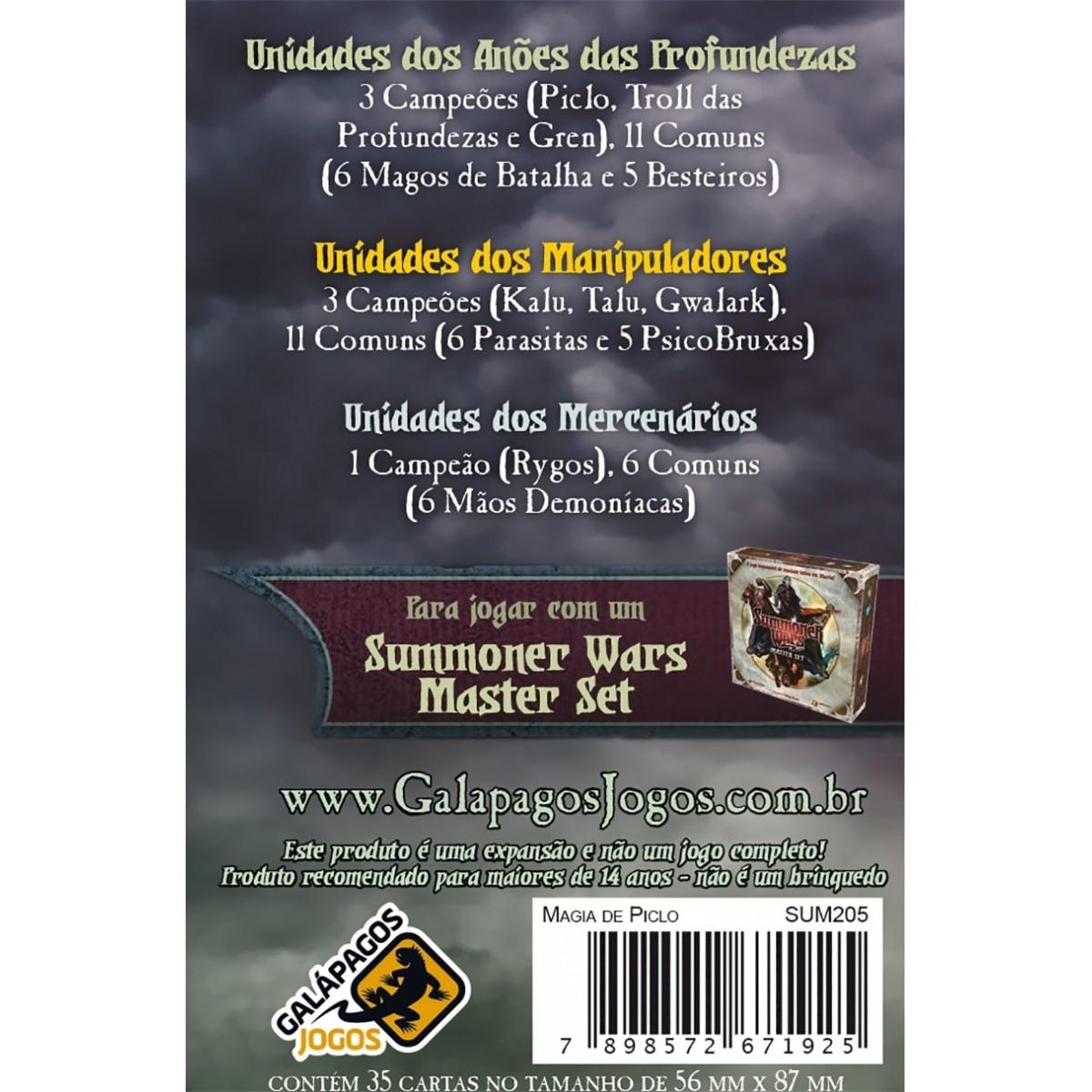 Summoner Wars Pacote de Reforços Magia de Piclo Galapagos SUM205  - Place Games