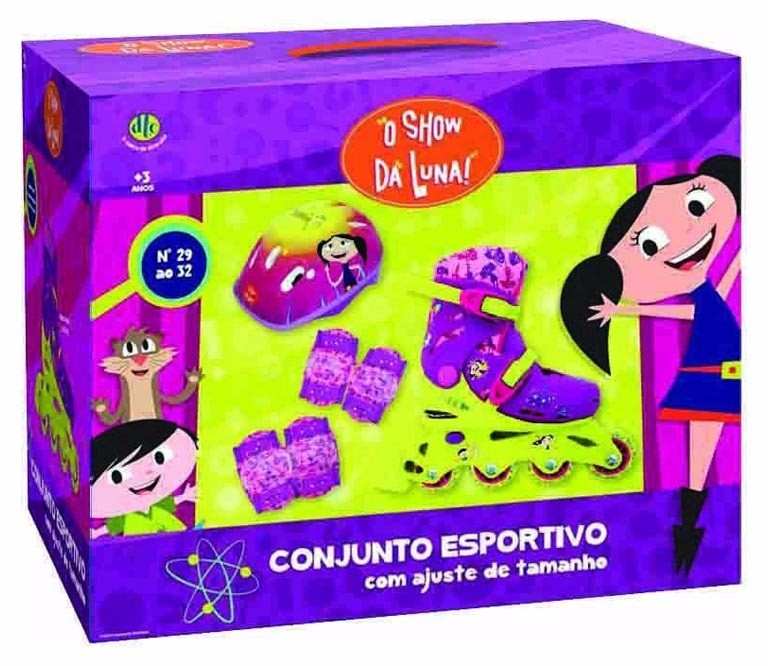 Patins Inline Conjunto Esportivo Show Da Luna 29 ao 32 - Dtc3900  - Place Games