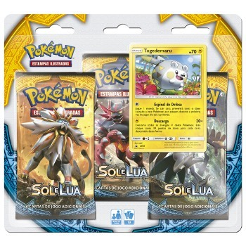 Pokemon Blister Triple Pack Sol e Lua Togedemaru Copag 97433  - Place Games