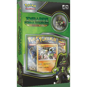 Pokemon Box Coleção com Broche Zygarde Forma Completa Copag 97479  - Place Games
