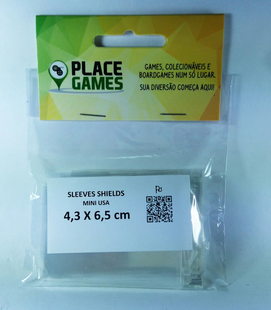 Shields Sleeves Mini USA 43 X 63mm Capas protetoras 100 unidades  - Place Games