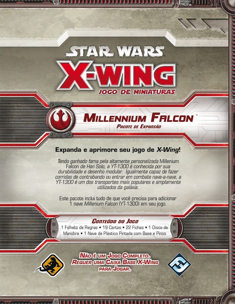 Star Wars X Wing Millenium Falcon Galapagos SWX006  - Place Games