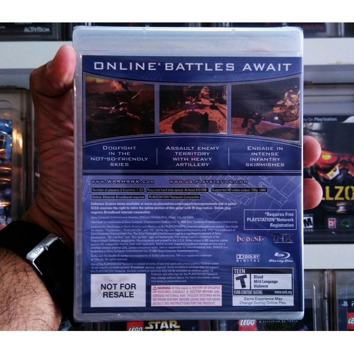 Warhawk Playstation 3 Original Lacrado  - Place Games