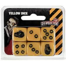 Zombicide Dados Amarelo Galapagos ZOM158  - Place Games