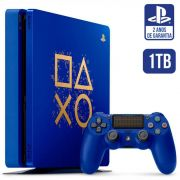 Console Playstation 4 Slim 1tb Ps4 Edição Especial Days Of Play Azul - Sony