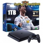 "Playstation 4 ""SLIM"" - 1TB - JOGO FIFA 2018 - Modelo CUH 2115B - HD 1TB"