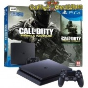 "Playstation 4 ""SLIM"" - 500GB - Com o Jogo Call of Duty Infinite Warfare"