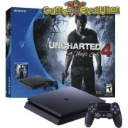 "Playstation 4 """" SLIM """" Novo Modelo SLIM - Com Jogo Uncharted 4"