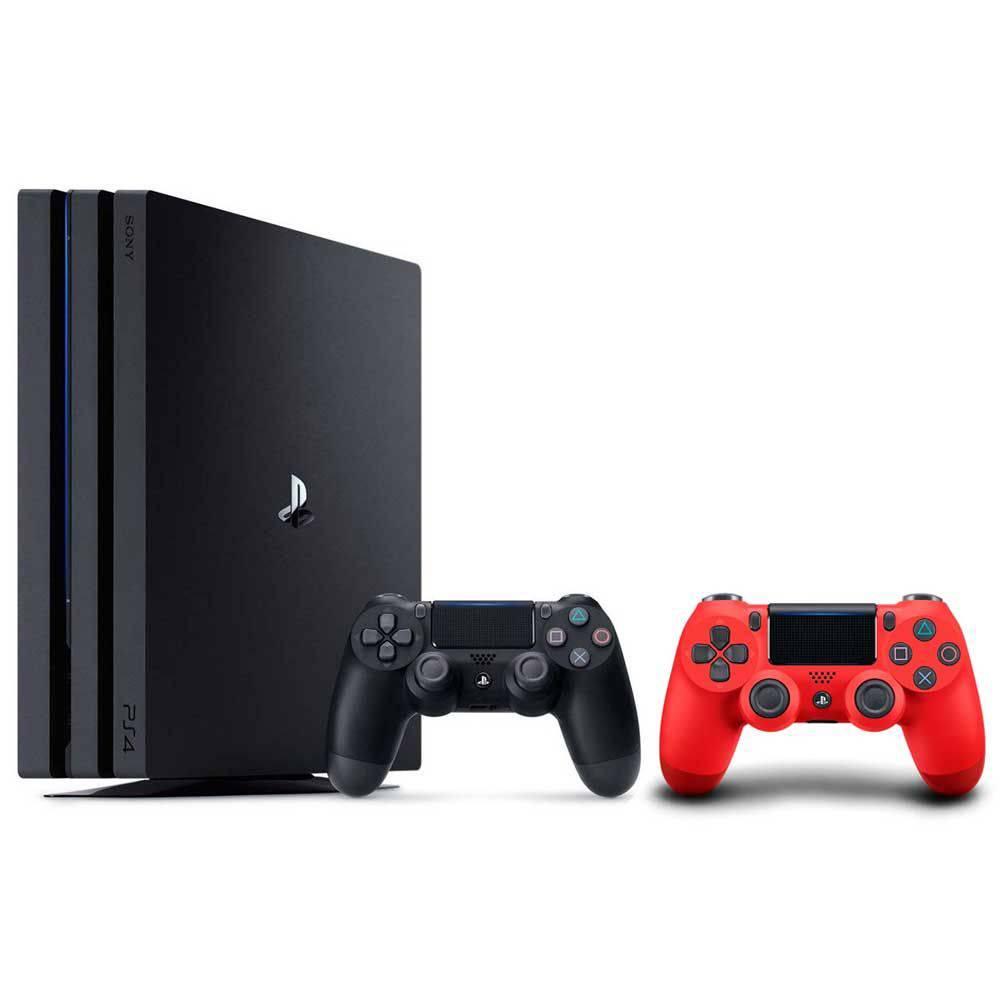 Console Playstation 4 Pro 1 Tb + Controle Dualshock Vermelho - Ps4