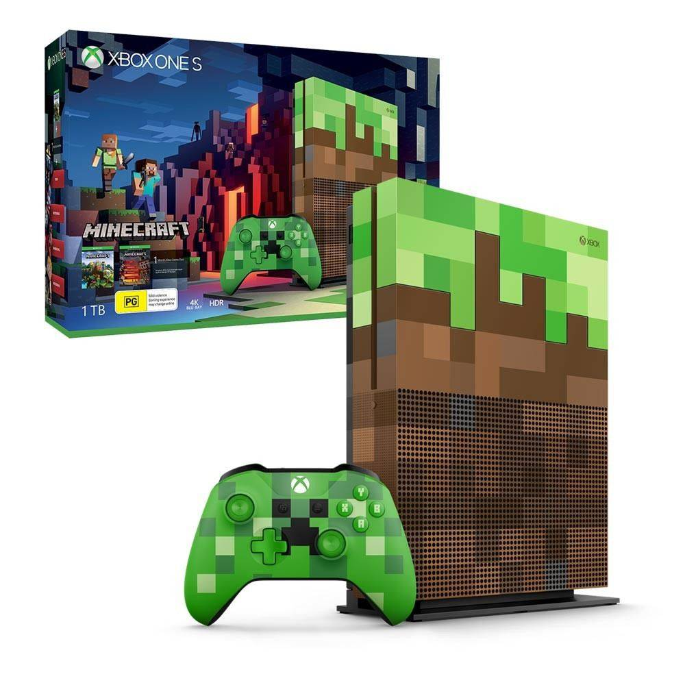 Console Xbox One 1tb Minecraft Edition