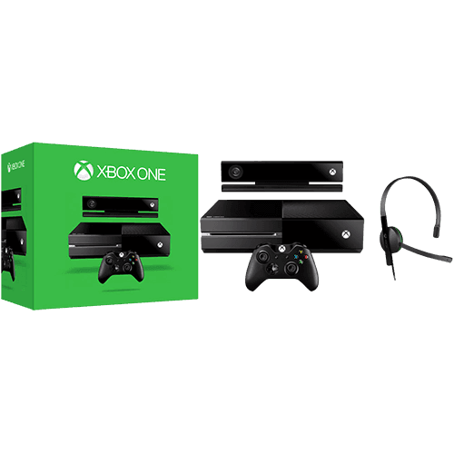 Console Xbox One 500GB + Sensor Kinect + Headset com Fio + Controle Wireless