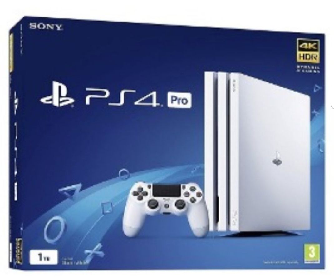 Sony Playstation 4 Ps4 Pro Branco 4k Bivolt