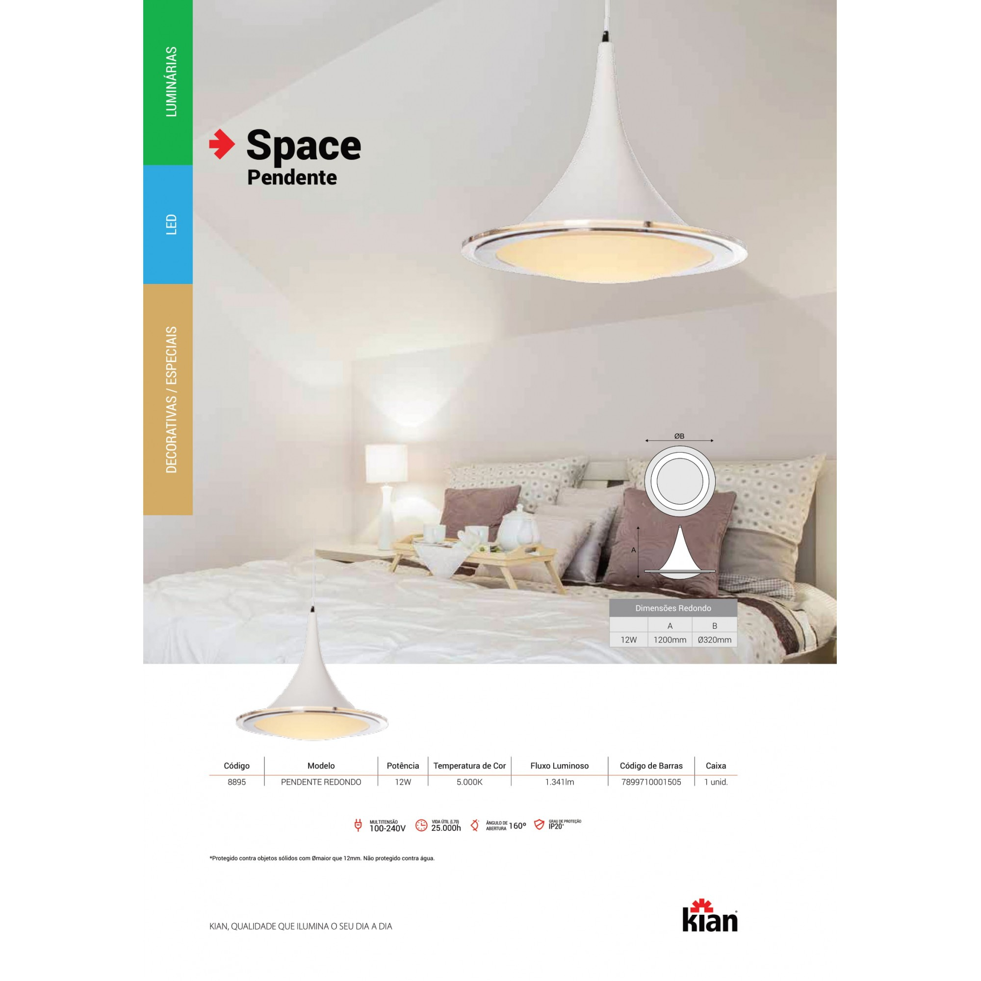 Pendente Space LED 12W