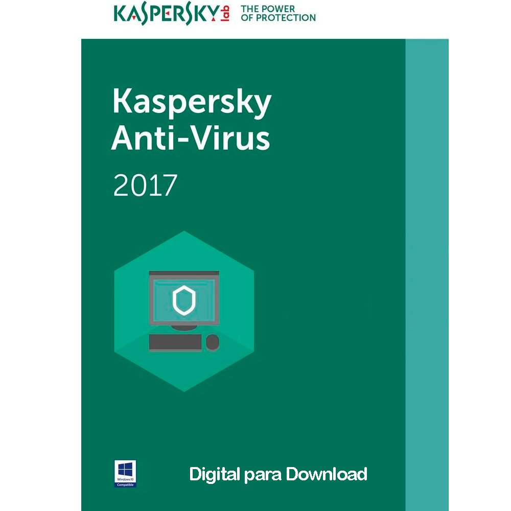 Kaspersky Antivírus 2017 1 PC - Digital para Download