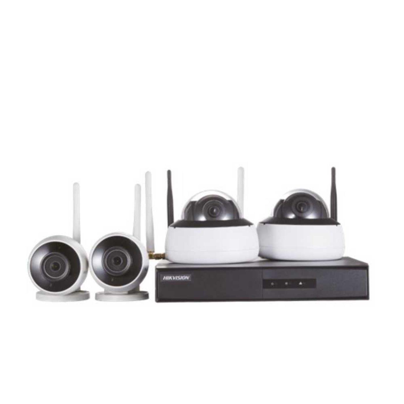 Kit de Monitoramento Hikvision NVR + 2 B1 E 2 D1 WIFI