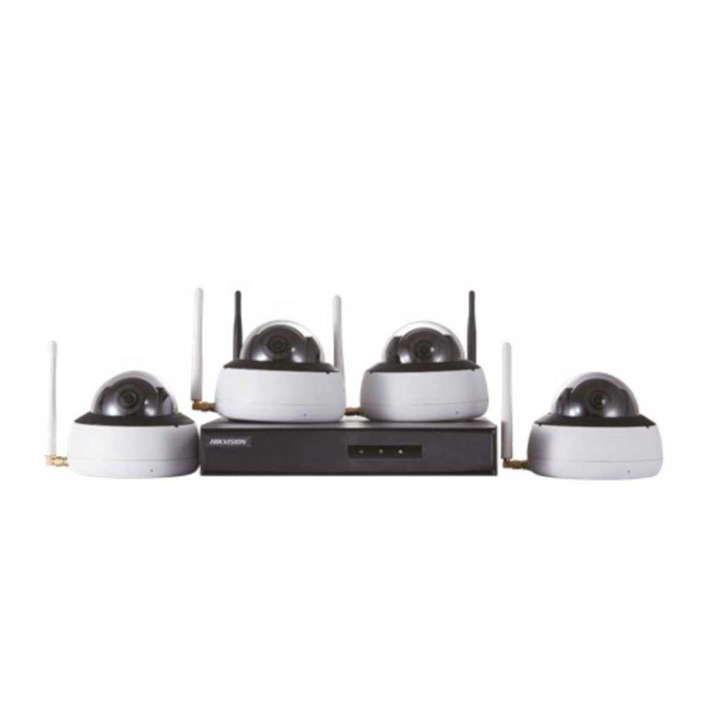 Kit de Monitoramento Hikvision NVR + 4 D1 WIFI