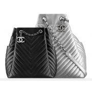Bolsa Chanel Chevron Drawstrin